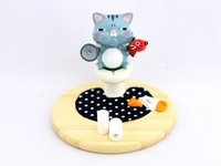 Toilet Cat - Smartphone holder ~ Blue