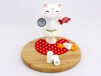Toilet Cat - Smartphone holder ~ White