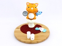 Toilet Cat - Smartphone holder ~ Tabby