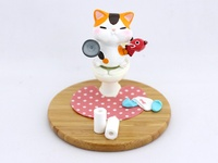 Toilet Cat - Smartphone holder ~ Calico