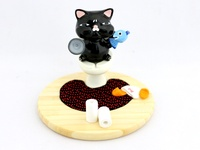 Toilet Cat - Smartphone holder ~ Black