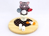 Toilet Cat - Smartphone holder ~ Brown