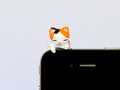 Toilet Cat - Smartphone holder ~ White Black